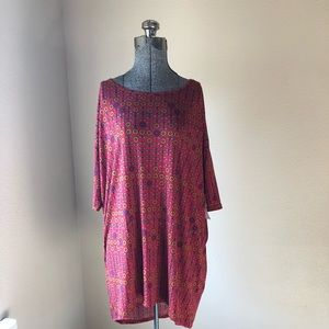 Lularoe Irma NWT  size S red floral